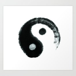 Ying & Yang Art Print