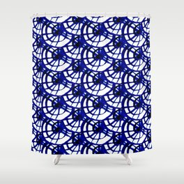 Shibori Curly Maze Shower Curtain