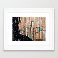 detroit Framed Art Prints featuring Detroit  by Alex Whittington Art