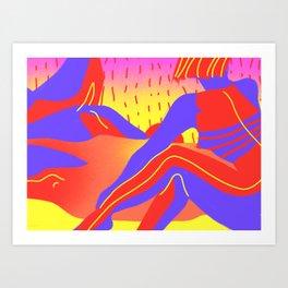 Sunset in the desert of the real Art Print