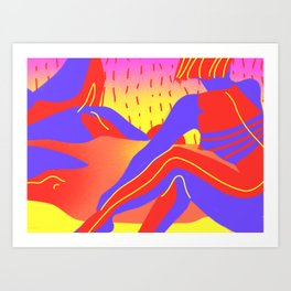 Sunset in the desert of the real Art Print