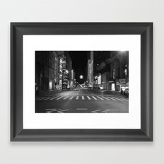 Christmas Time in The City Framed Art Print