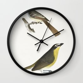 70 The Great-crested Kingbird (Tyrannus crinitus) 71 The Yellow-brested Chat (Icteria viridis)  from Wall Clock