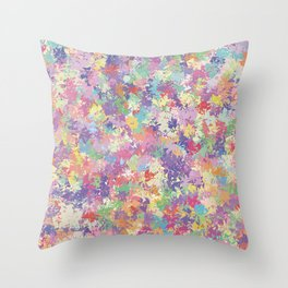 Colorful patterned background Throw Pillow