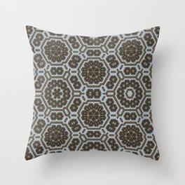 Black Snowflakes Pattern Throw Pillow