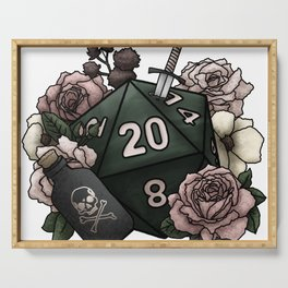 Rogue Class D20 - Tabletop Gaming Dice Serving Tray