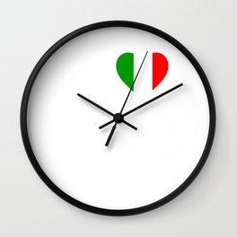 Italy heartbeat Wall Clock