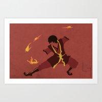 zuko Art Prints featuring Zuko by JHTY