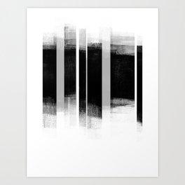 Black and White Retro Style Geometric Abstract - Codex Art Print