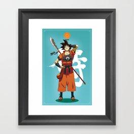 Dragon Ball Bushido : Goku Framed Art Print