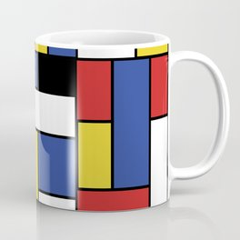 Mondrian Geometric Art Coffee Mug