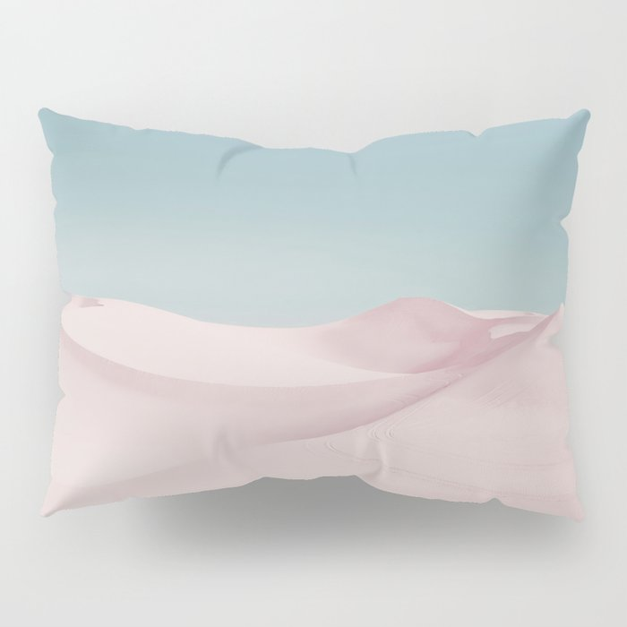 Surreal Pastel Desert Travel Art Pillow Sham