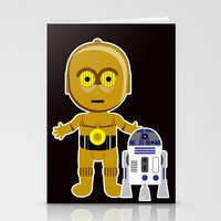 c3po Stationery Cards featuring C3PO by Jasmine Victoria