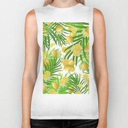 Summer Lemon Twist Jungle #2 #tropical #decor #art #society6 Biker Tank