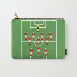 Soccer football team in red Carry-All Pouch