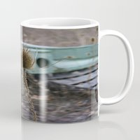 jeep Mugs featuring Vintage Jeep by Stephanie Bosworth