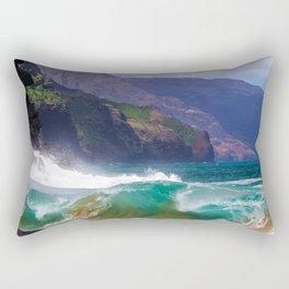 Napali Crashing Waves - Kauai Northshore Rectangular Pillow