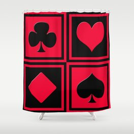 Playing card 2 Shower Curtain