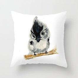 Judgy Little Bird Throw Pillow
