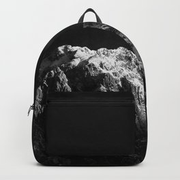 Sunlight hitting the mountains black and white Backpack