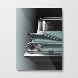 US American classic car 1960 park wood Metal Print