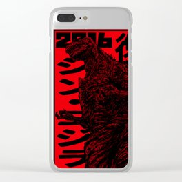 King of the Monsters - Godzilla #4 - Red Version(Fan Art) Clear iPhone Case
