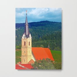 The village church of Reichenau I | architectural photography Metal Print