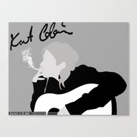 kurt cobain Canvas Prints featuring kurt cobain.  by JessicaSzymanski