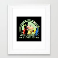 super smash bros Framed Art Prints featuring Olimar - Super Smash Bros. by Donkey Inferno