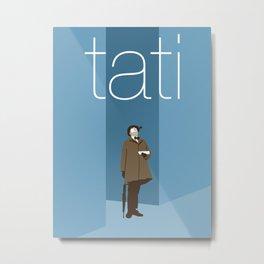 Jacques Tati Metal Print