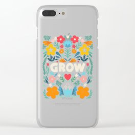 GROW floral Clear iPhone Case