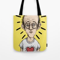 keith haring Tote Bags featuring Keith Haring by baldur