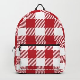 Buffalo Plaid - Red & White Backpack