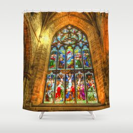Cathedral Stained Glass Window Shower Curtain