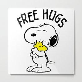 Free Hugs Snoopy Metal Print