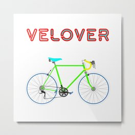 VeLover - Boy – June 12th – 200th Birthday of the Bicycle Metal Print