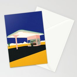 Texas Desert Gas Station Stationery Cards