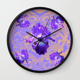 Lilac Purple Fantasy Design Wall Clock