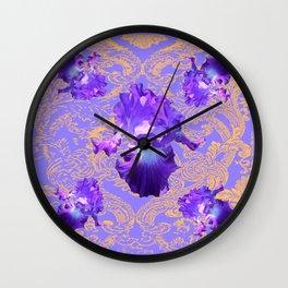 Lilac Purple Fantasy Design Wall Clock