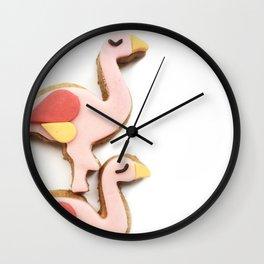 flamingo piggyback ride Wall Clock