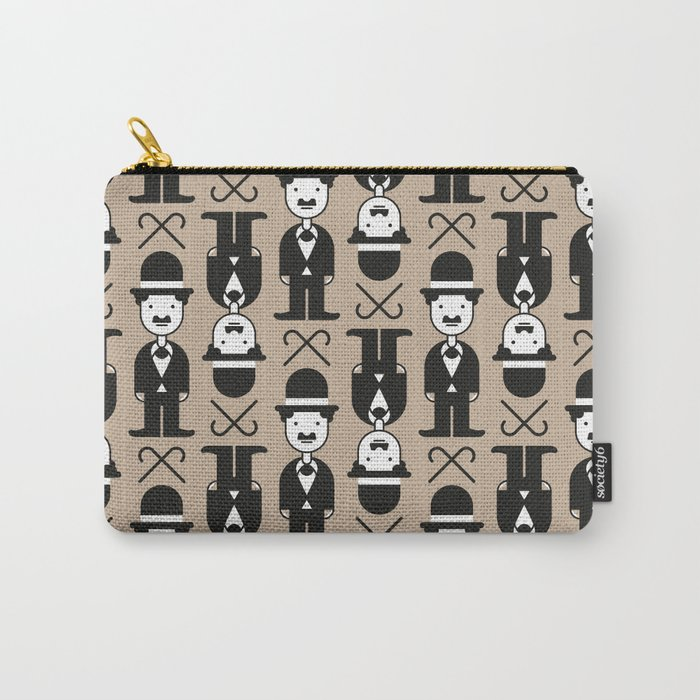 Charlie Chaplin Pattern Carry-All Pouch