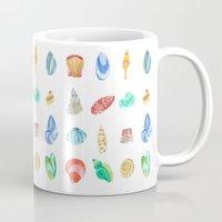 shells Mugs featuring Shells by Louise Kjeldsen