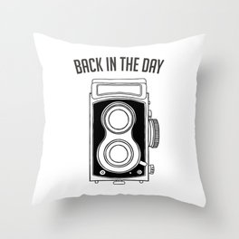 Back in the Day Old Camera Throw Pillow