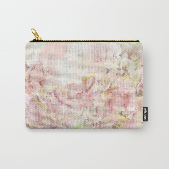 Pink Hydrangeas on a soft pastel abstract background Carry-All Pouch