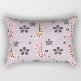 Girl Giraffe Playland Rectangular Pillow