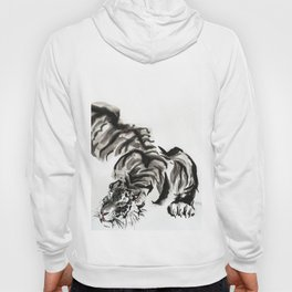 tiger watercolor japan style chinese ink Hoody