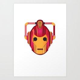 cyber iron man Art Print
