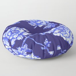 Chinoiserie Foral Navy Floor Pillow