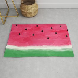 Watermelon Abstract Rug