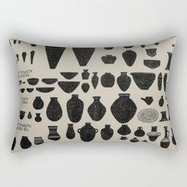 Ancient Egypt Pottery Rectangular Pillow